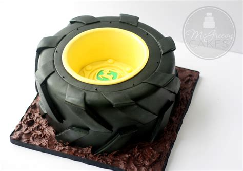 tractor tire cake    video tutorial mcgreevy