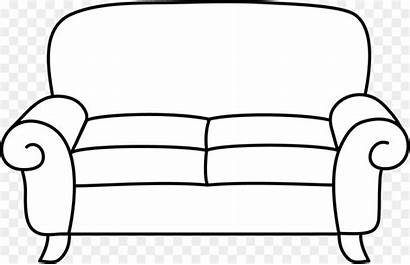 Sofa Clipart Couch Clip Living Chair Template