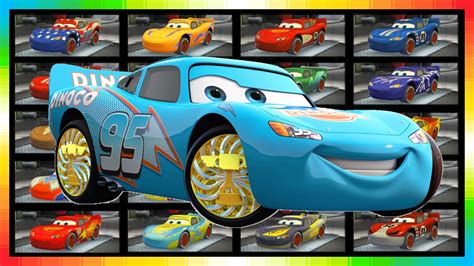 The Cars  Choose 20 Different Lightning Mcqueen Cars