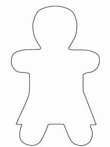 Gingerbread Boy Template | Search Results | Calendar 2015