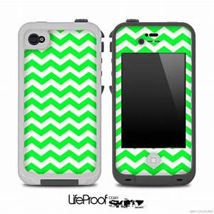 Items similar to Lime Green Chevron Pattern Skin for the