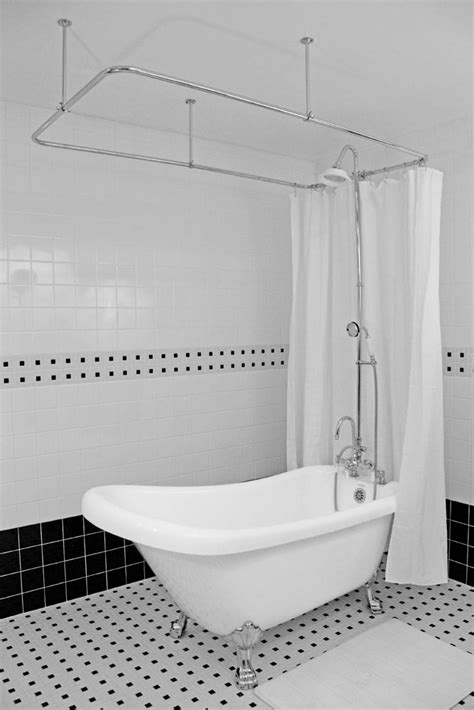 Shower For Clawfoot Tub by 67 Quot Single Slipper Clawfoot Tub And Shower