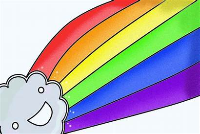 Rainbow Glitter Clipart Animation Power Animated Apple