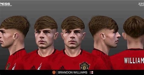 ultigamerz: PES 6 Brandon Williams (Manchester United) Face HD