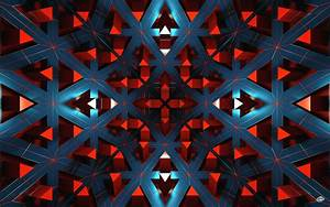 wallpaper, , , digital, art, , abstract, , render, , red, , cgi