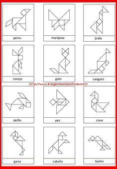 circle tangram  solutions  images tangram