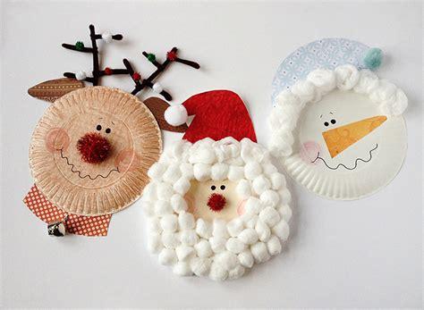 paper plate characters santa rudolph snowman 298 | paper plate christmas characters santa snowman rudolph 2