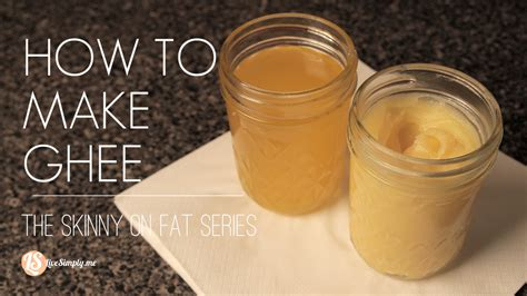 How To Make Ghee Video Tutorial  Live Simply