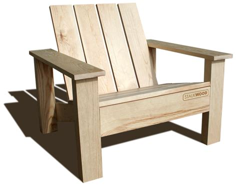 plan chaise de jardin en bois staukwood fauteuil clube et mobilier de jardin eco design