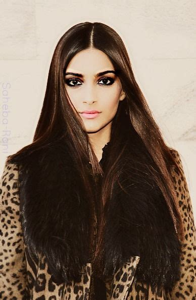 actress with long straight hair sonam kapoor indian model and actress her long straight