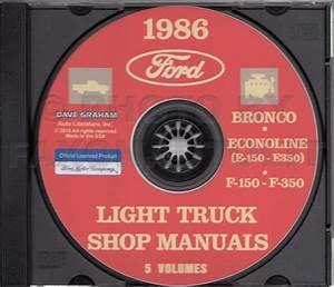 1986 Ford F150 F250 F350 Pickup Truck Foldout Wiring