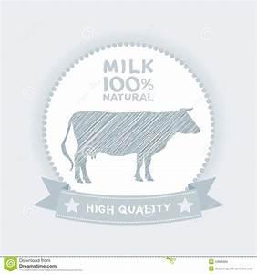 Farm Shop  Cow Milk Diagram And Design Elements In Vintage