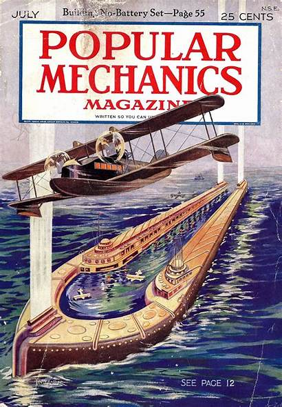 Popular Mechanics Retro Future Magazine Air Golden