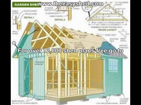10 X 16 Wood Shed Plans by 16 X 16 Shed Plans Free Storage Shed Designs 5 Features