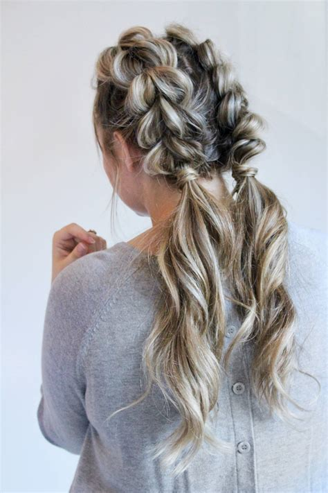 jumbo pull  braid pigtails tutorial life  waller