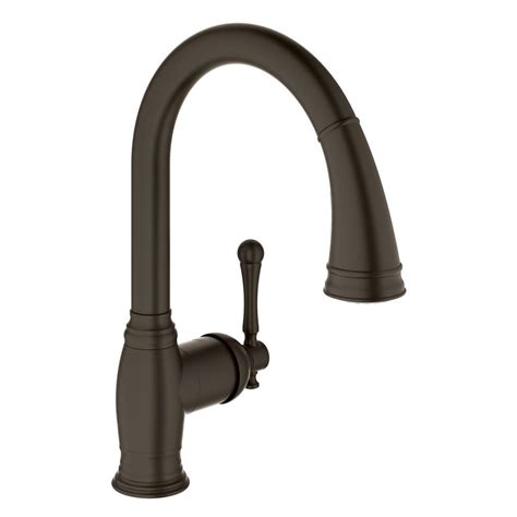 rubbed kitchen faucets grohe bridgeford single handle pull down sprayer kitchen faucet with dual spray in oil rubbed