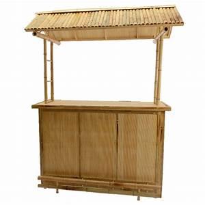 Tonnelle En Bambou : bar de jardin bambou cuba grand mod le salon de jardin ~ Premium-room.com Idées de Décoration