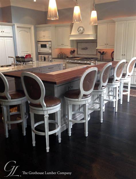 island bar kitchen custom walnut wood raised kitchen bar in ontario 1934