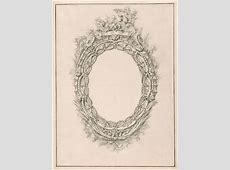 Giovanni Battista Piranesi Design for Oval Mirror Frame