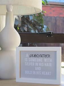 Framed grandfather quote wall art felt