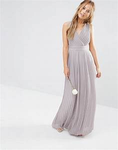 tfnc wedding pleated wrap maxi dress the dress villa With dressy maxi dresses for wedding