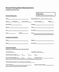 personal training assessment template images template With personal trainer client profile template