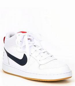 Nike Kids 39 Court Borough Mid Top Lifestyle Shoes Youth