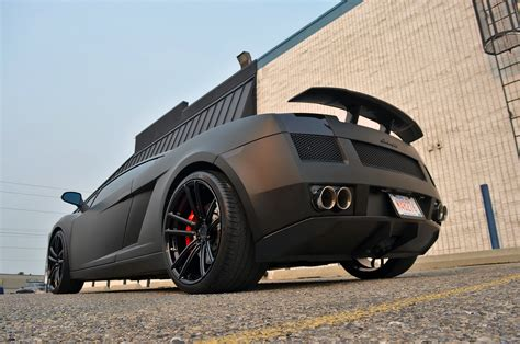 Insane Matte Black Lamborghini Gallardo On Adv1 Wheels