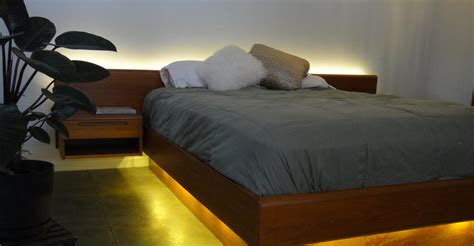27265 bed with lights led lighting projects inspire your creativity