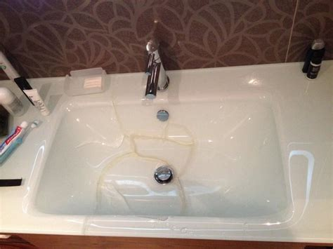Cracked Sink In Bathroom!-picture Of Hilton Barcelona