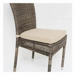 Coussin De Chaises : coussin de chaise isabelle en r sine coloris beige ~ Teatrodelosmanantiales.com Idées de Décoration