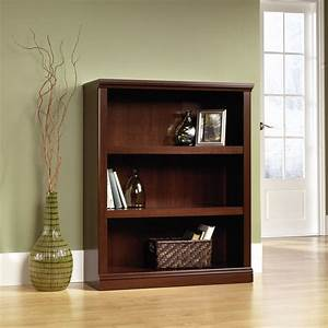 transitional, adjustable, shelf, open, bookcase, in, select, cherry