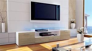 Tv Board Weiß Eiche : tv lowboard board schrank tisch m bel almada v2 in wei hochglanz naturt ne ebay ~ Bigdaddyawards.com Haus und Dekorationen