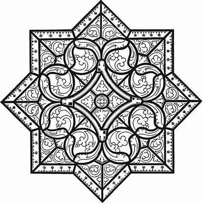 Coloring Cool Mandala Dover Elegant Adult Printable