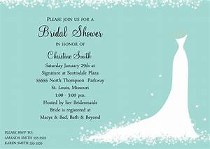 Bridal shower invitation bride for Wedding shower announcements