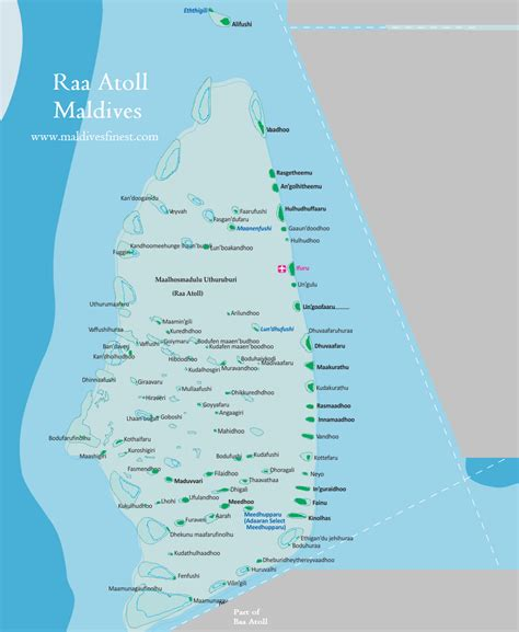 islands  raa atoll  map maldives map org