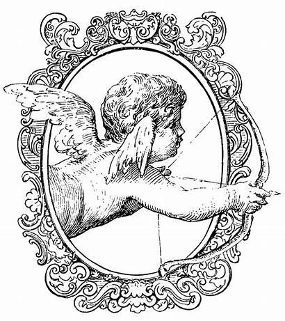 Cupid Collage Valentine Frame Framed Eridoodle Pages