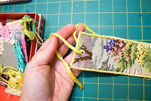 How to Make an Upcycled Cross Stitch Bookmark • Crafting a ...