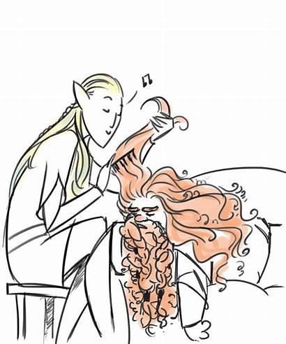 Gimli Legolas Lord Rings Hobbit Lotr Fanart