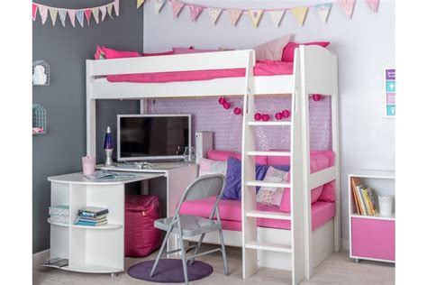 High Sleeper With Desk And Sofa Bed