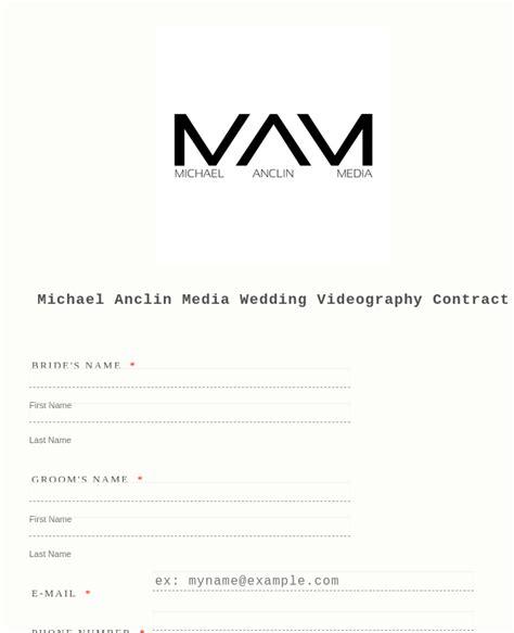 wedding photography timeline form template jotform