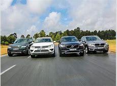 Volvo XC90 vs BMW X5 vs Range Rover Sport SVR vs VW
