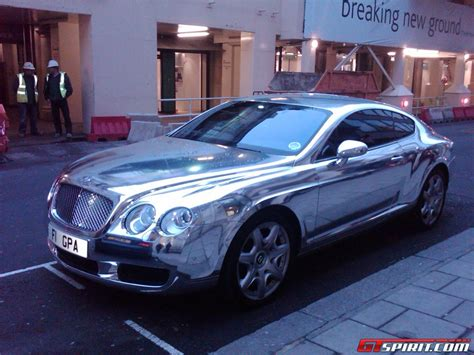 bentley silver overkill silver plated bentley continental gt