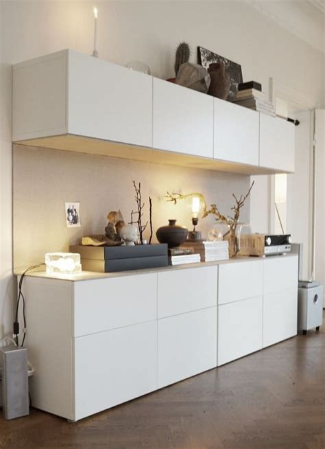 living room floating shelves 45 ways to use ikea besta units in home décor digsdigs