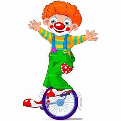 Circus Clown Clip Clipart Unicycle Clowns Amuse