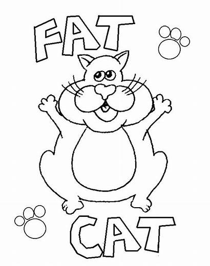 Coloring Cat Fat Colouring Pages Printable Sheets