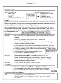 Academic Achievements Exles For Resume by Academic Cv Template 9 Documents In Pdf Word