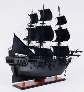 Black Pearl Pirate Ship Wood Model
