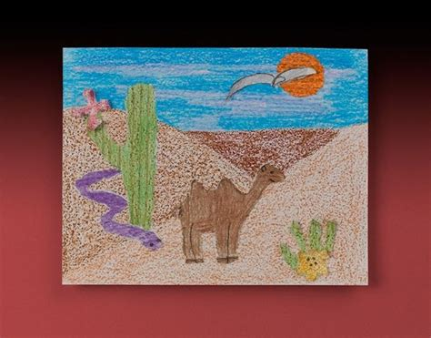 Sandy Desert Craft..use Sandpaper For Texture