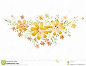 Blumen Bilder Gemalt : sch ne blumen gemalt mit aquarellen stock abbildung bild 43464690 ~ Orissabook.com Haus und Dekorationen